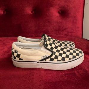 Slip-On Vans Checkered Size 6.5